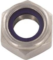 Гайка DIN 985, шестигранная самоконтрящаяся с внутр.пластиковым кольцом