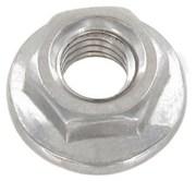 Гайка DIN 6923,  шестигранная с фланцем;  сталь А2,  М6,  М8,  М10